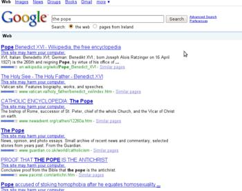 google filter borked