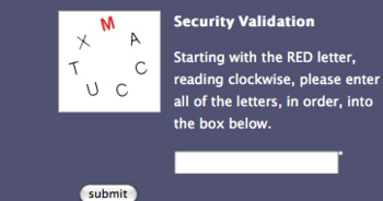 inaccessible captcha