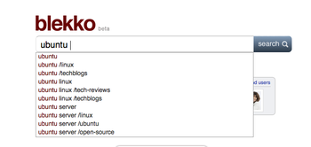 blekko search suggestions