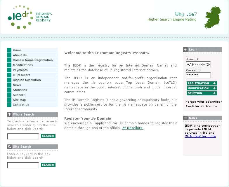 IEDR website 2006