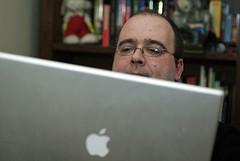 Michele + laptop