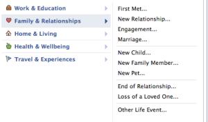 facebook relationship events
