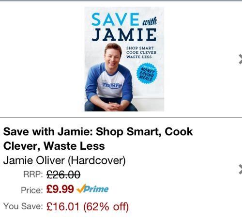 Save with Jamie priced on Amazon UK