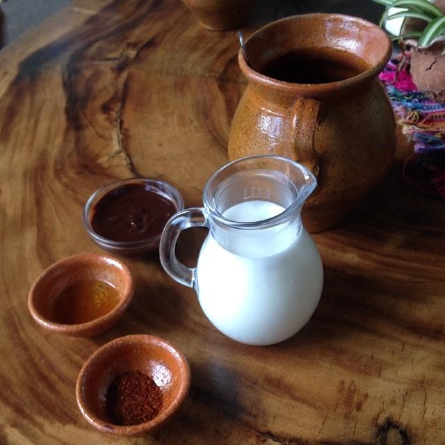 Mayan style hot chocolate