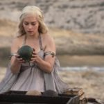 Emilia Clarke as Daenerys Targaryen in HBO's Game of Thrones