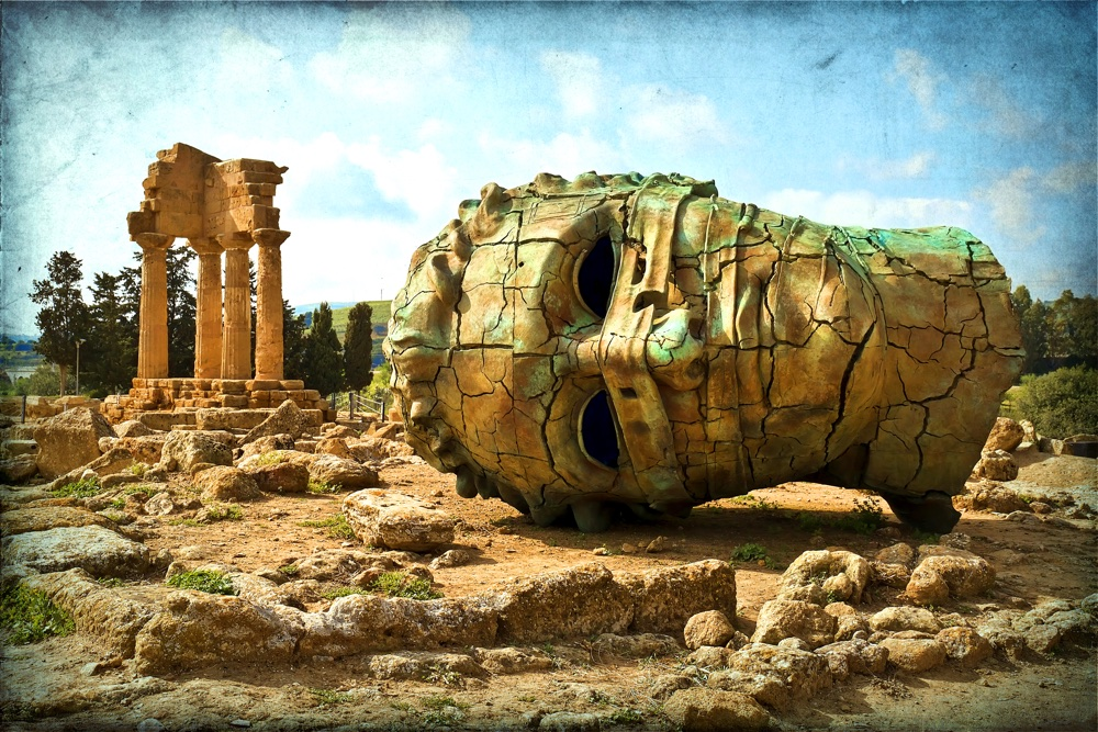 Agrigento Sicily. Famous Valle dei Templi UNESCO World Heritage Site. Greek temple remains of the Temple of Castor and Pollux.