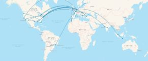 My flights in 2016 visualised