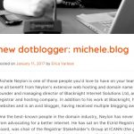 Michele.blog Featured by DotBlog Domain Registry