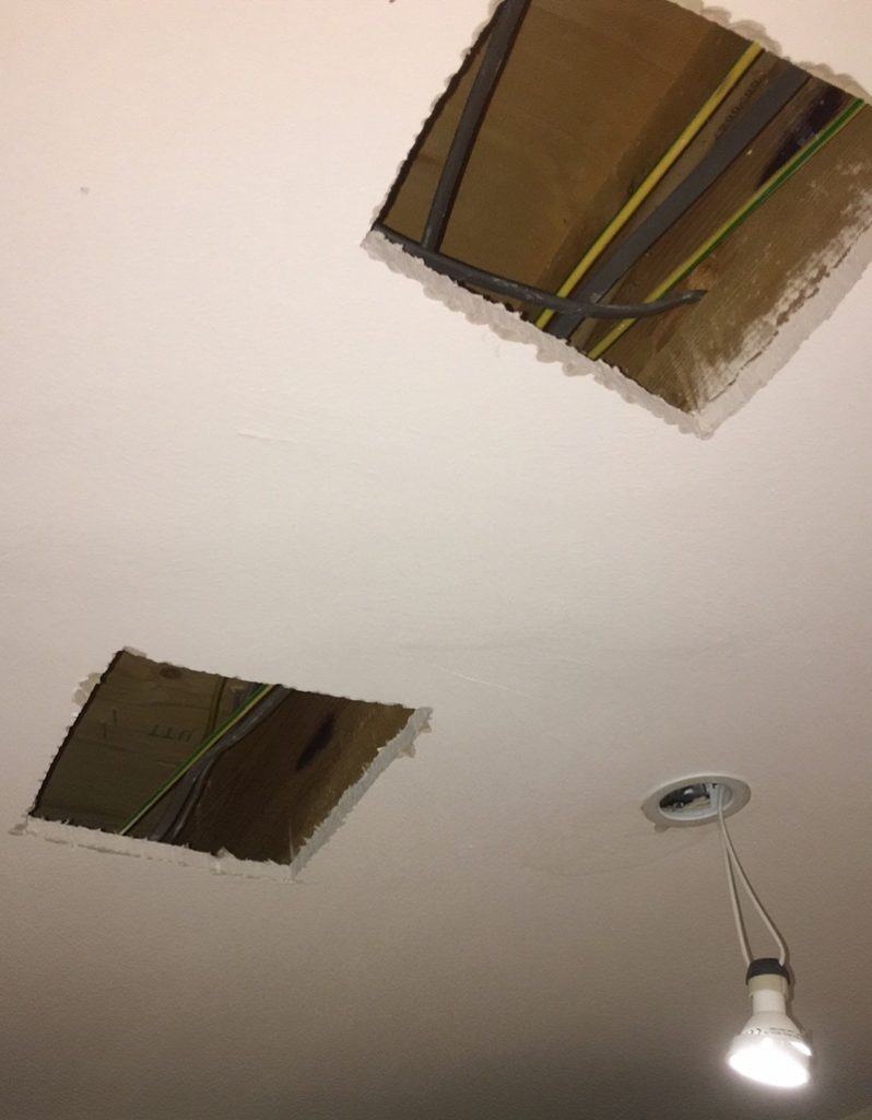 Holes in kitchen ceiling