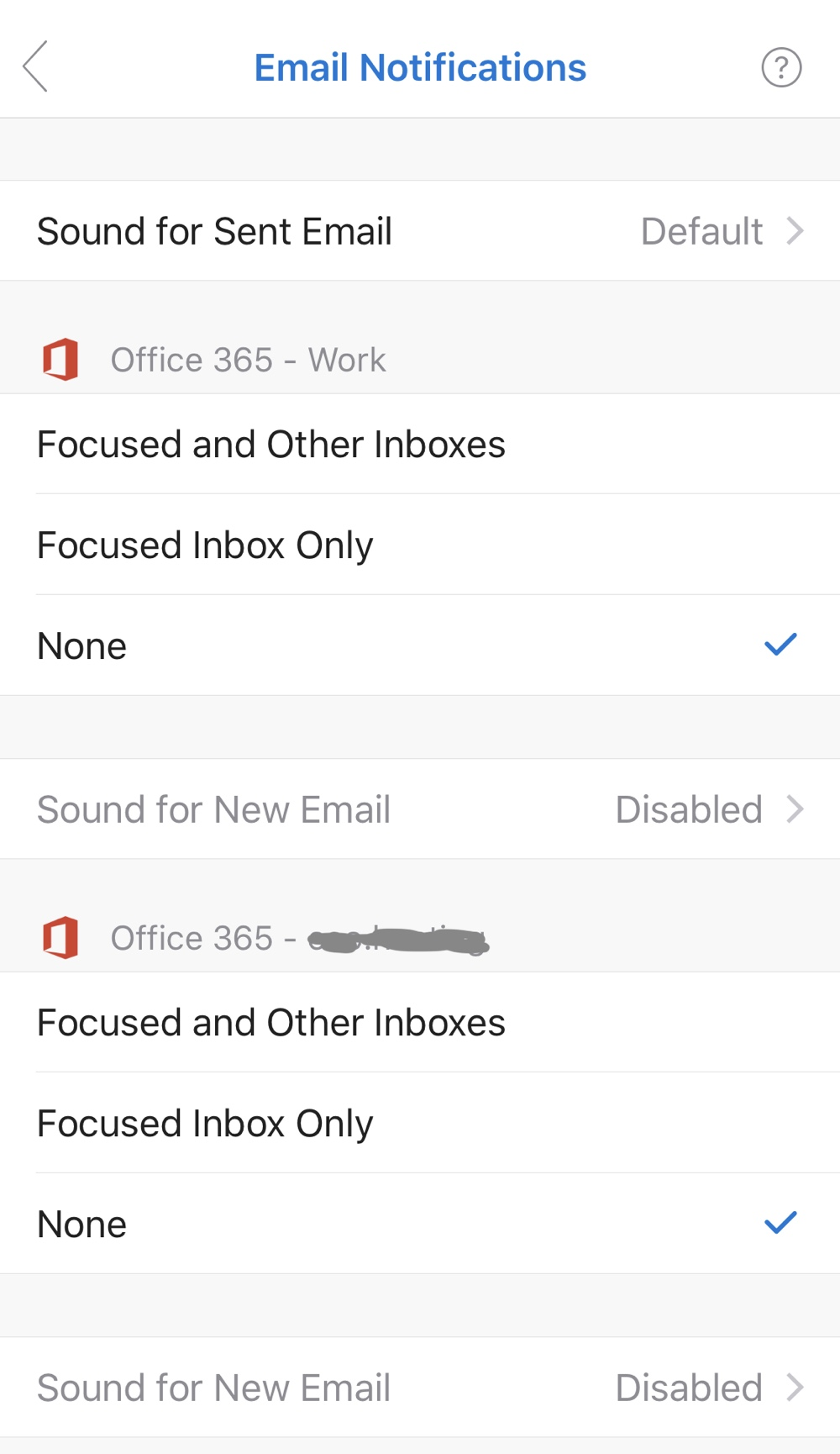 Disabling Push Email in Outlook on iOS