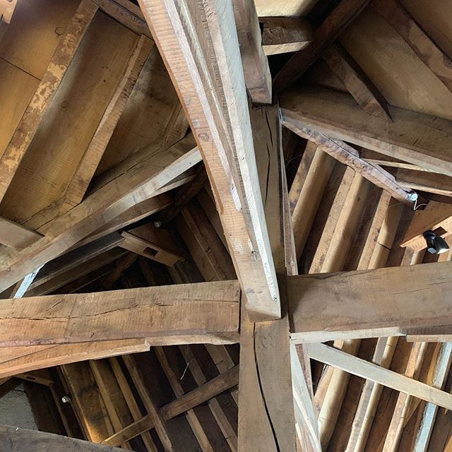 Part of the reconstructed ceiling in Rothe House