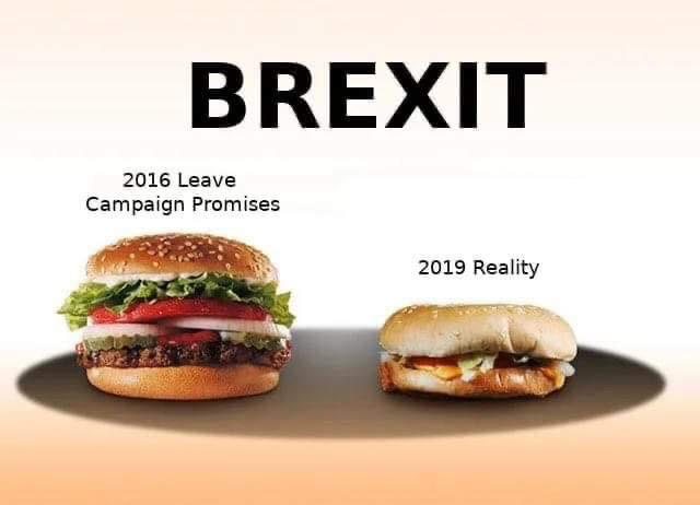 Brexit compared to burger advertising